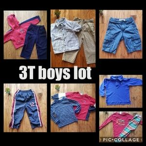 Boys 3T lot. Pants shirts long sleeved jacket pjs